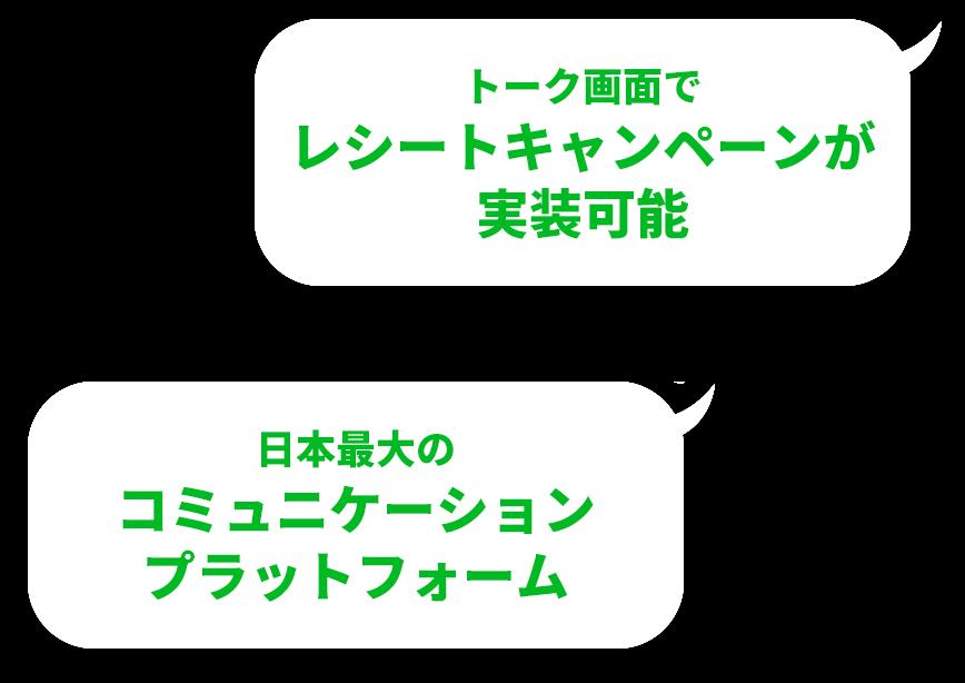 トーク画面でレシートキャンペーンが実装可能 日本最大のコミュニケーションプラットフォーム